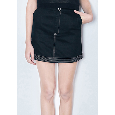 [30% SALE ]stitch mini skirt